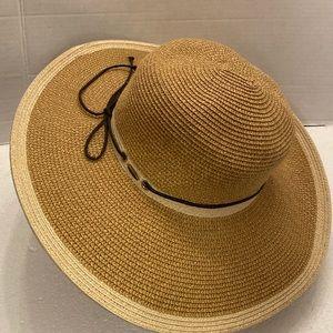 Scala Collezione Wide Brim Paper Boho Sun Hat